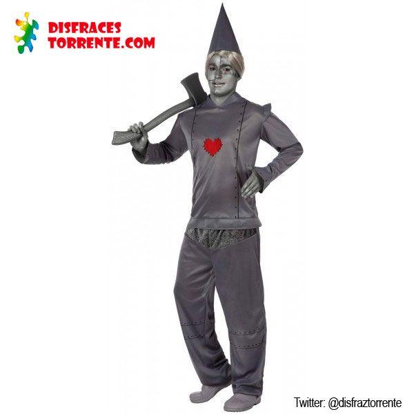 Disfraz de Hombre de Hojalata. Increíble disfraz de hombre de hojalata y vive el cuento del Mago de Oz, junto a Dorothy, el Espantapájaros, León etc...