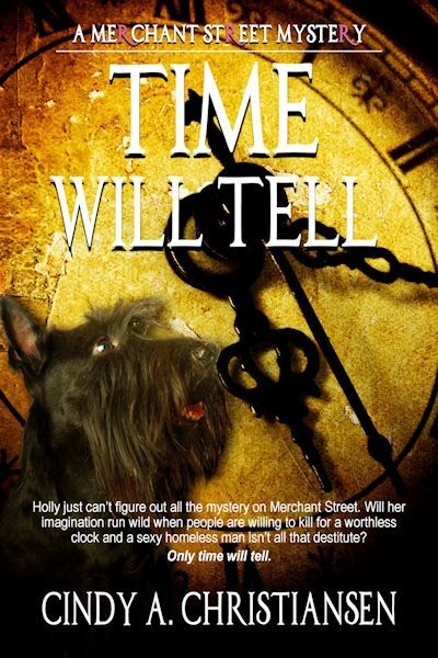 Holly just can't figure out all the mystery on Merchant Street. Will her imagination run wild when people are willing to kill for a worthless clock and a sexy homeless man just isn't all that destitute? Only time will tell.