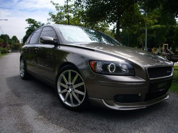 Volvo S40 with halo headlights. Now that will turn some heads and get people's attention!