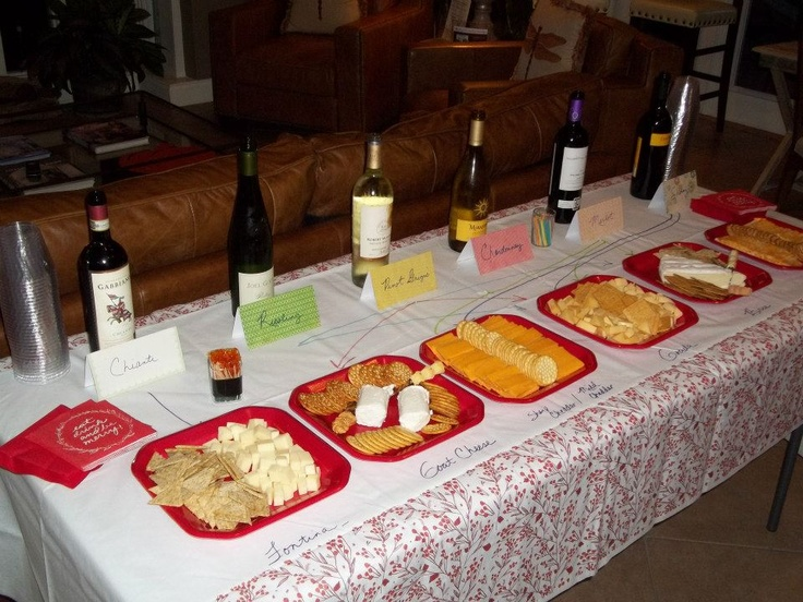 Wine & Cheese Night at one of our communities. We made a cute display of how to pair the flavors. #wine #cheese