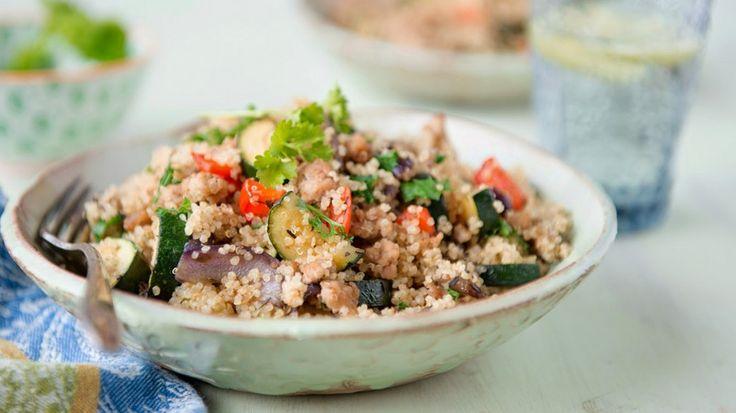 Pilaf de quinoa y vegetales – Reto VIVRI
