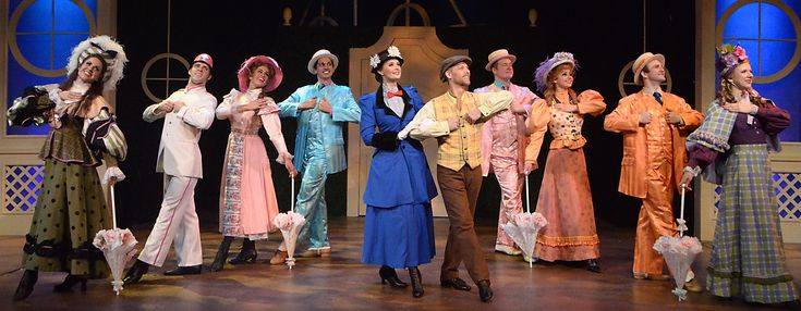 "The dance ensemble is featured in ""Jolly Holiday"" with Cara Statham Serber as Mary Poppins and Buddy Reeder as Bert"