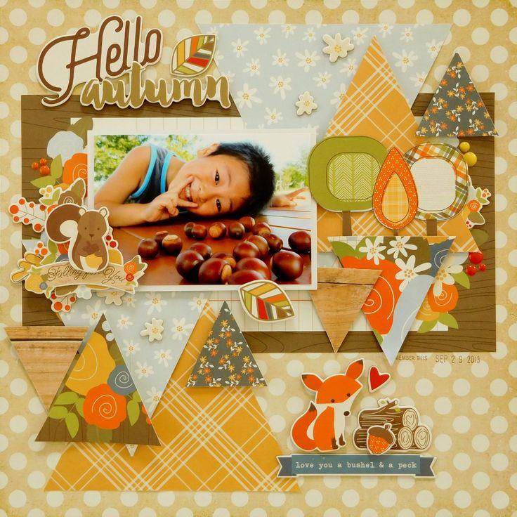 Hello Autumn   Scrapbook.com