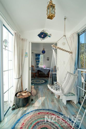 coastalHotel Interiors, Rag Rugs, Beach Homes, Beach House, Japanese Architecture, Hanging Chairs, Back Porches, Design Hotel, New Zealand