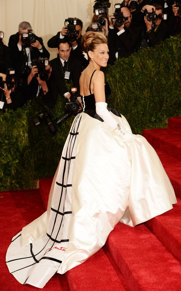 Red carpet arrivals at the Met Gala 2014