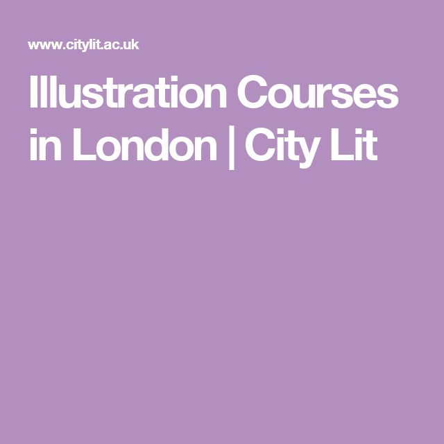 Illustration Courses in London | City Lit