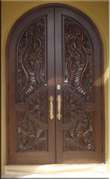 Custom Carved Entry Doors - tropical - front doors - miami - by DecoDesignCenter.com
