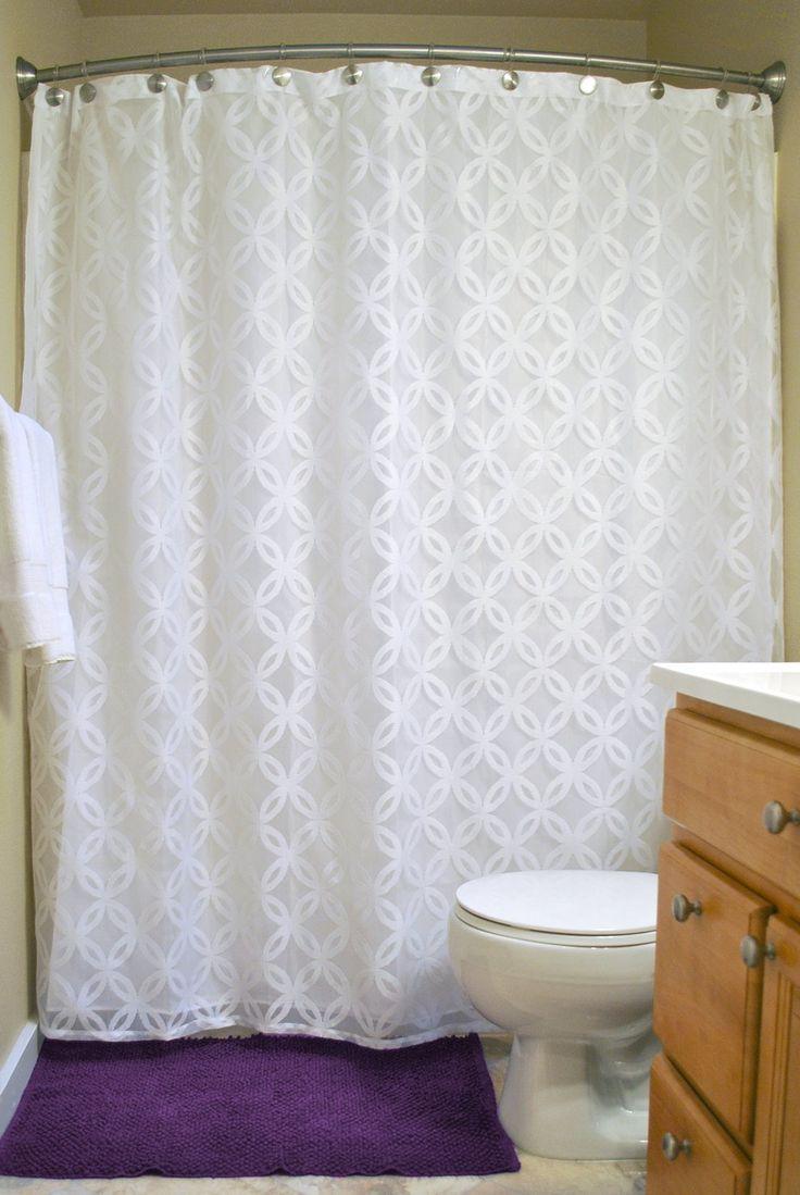 Amazon.com - DII Elegant Modern Lattice Lace 100% Polyester Machine Washable Shower Curtain 72x72, White -
