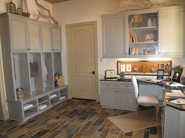 if a bedroom is needed for another purpose, definitely going with the idea of combining a mudroom with an office.