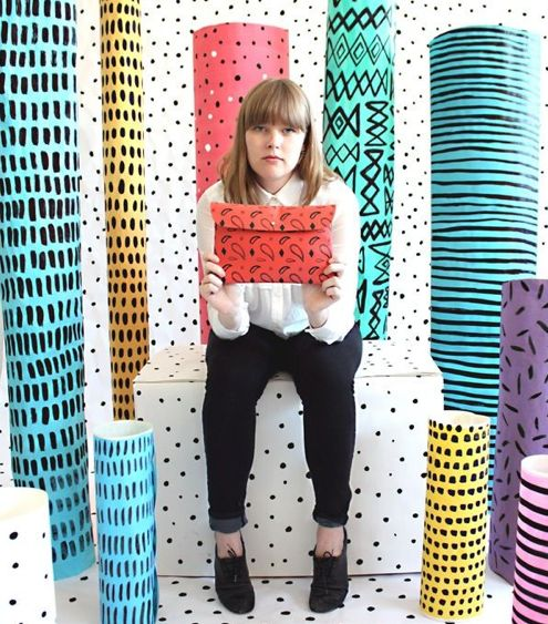 Ceramic totems...tubes. Repeated patterns.  Could use cardboard tubes of graduated sizes.