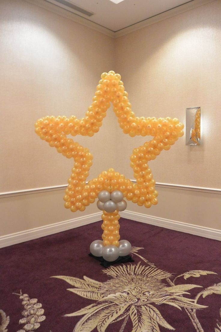 39 best images about balloon star arches on pinterest for Arch balloons decoration