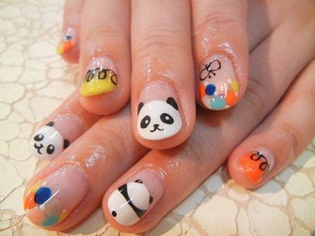 Best 25 panda nail art ideas on pinterest panda bear nails 25 cute panda nail art designs prinsesfo Image collections