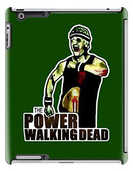 The Power Walking Dead (on Green) [ iPad / iPhone / iPod Case | Tshirt | Print ] by Damienne Bingham