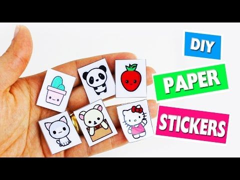 DIY Homemade Paper Stickers - Easy Paper Crafts - 5 minutes craft - YouTube   1515c2fb5d1e6