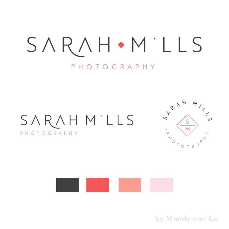 Modern Minimalist photography premade logo by MandyandCo on Etsy