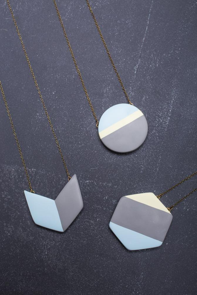 Geometric Necklace on BourbonandBoots.com