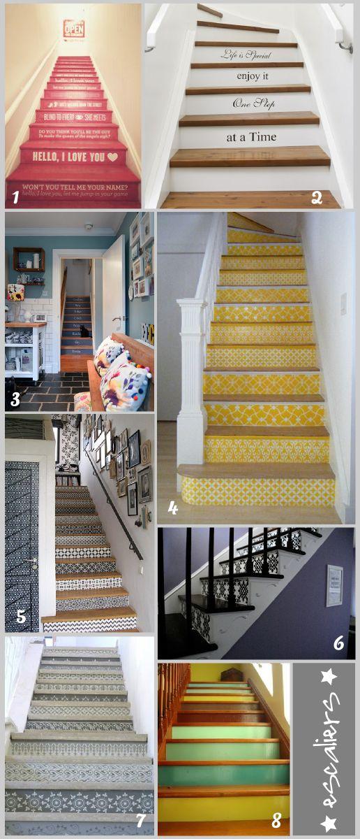décorer ses escaliers facilement avec de l'adhésif