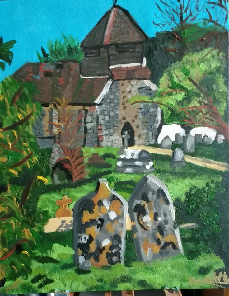 ST. Matthews church Netley Hampshire By Joanna Barker #art #artist #painting #artwork #landscape