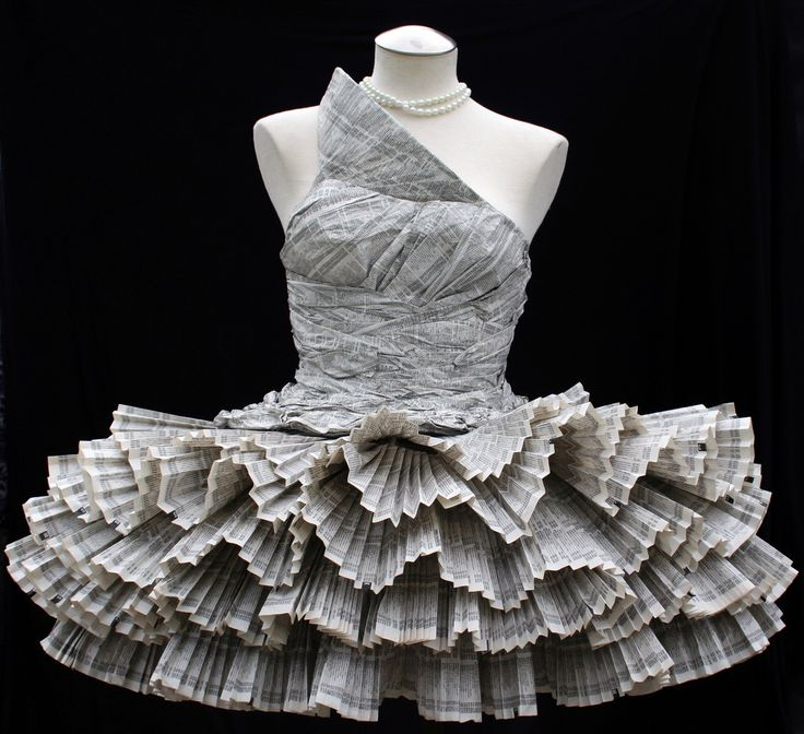 Paper Dress made out of phonebook paper for Creative Processes.
