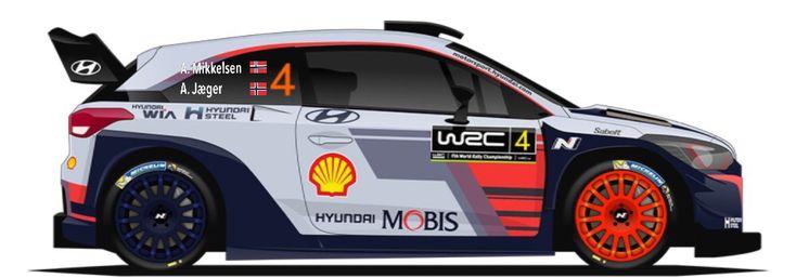 WRC | HYUNDAI | #4 | Andreas Mikkelsen - Anders Jæger ( 11 )
