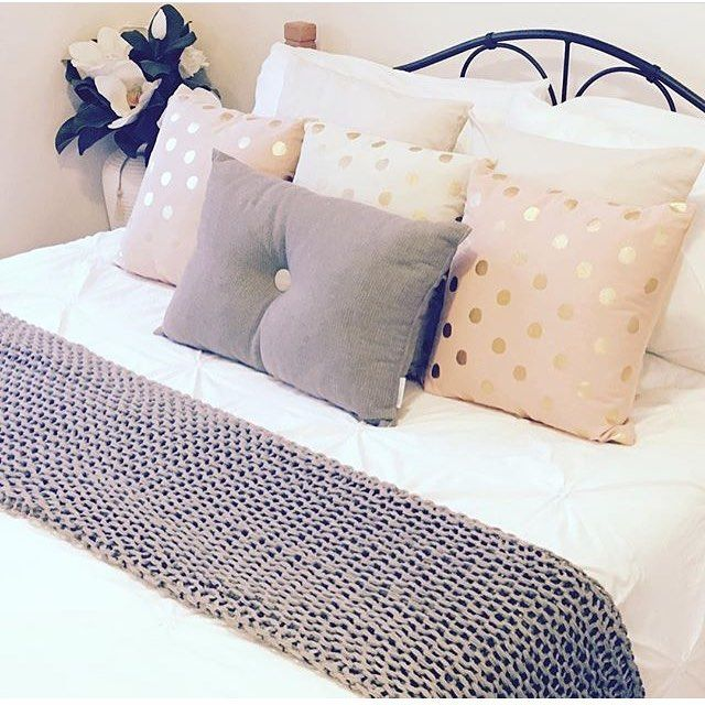 @casacreativity's bedroom feat. knit throw, quilt cover and cushions from kmart