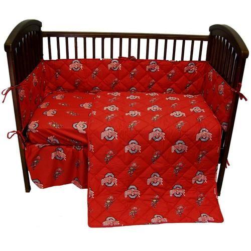 Ohio State University Buckeyes 5 Piece Baby Crib Bedding Set