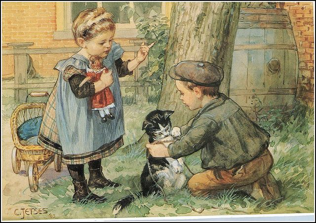 by the dutch artist Cornelius Jetses (1873-1955)
