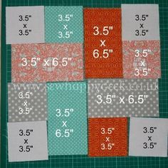 Hmm, good scrap quilt project. Use up random fabrics and just place together. Perfect for a charity quilt project too - easy. // Good for this beginner!