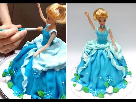 Learn how to decorate in a very easy way a princess doll cake. A perfect gift for a little princess.