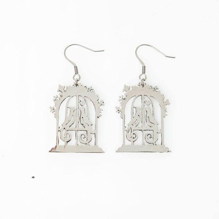 Lasercut jewellery from www.tintown.co.za - Birdcage Earrings