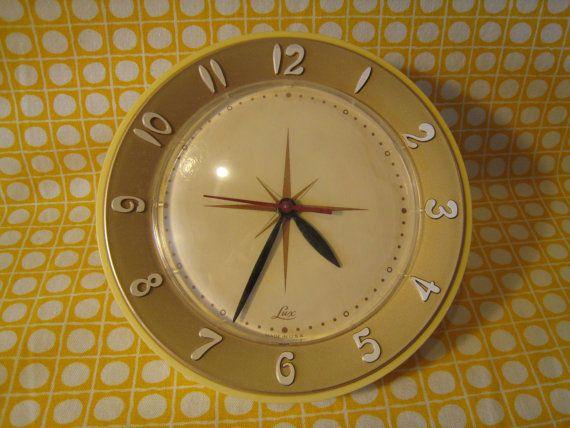 Mid Century Lux Kitchen Wall Clock