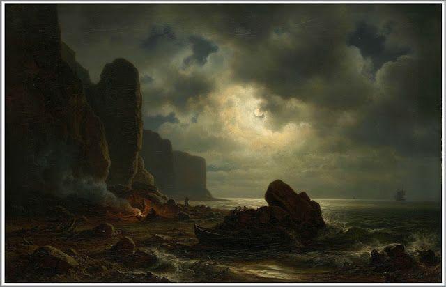 Christian Morgenstern (1805-1867), Küste von Helgoland.