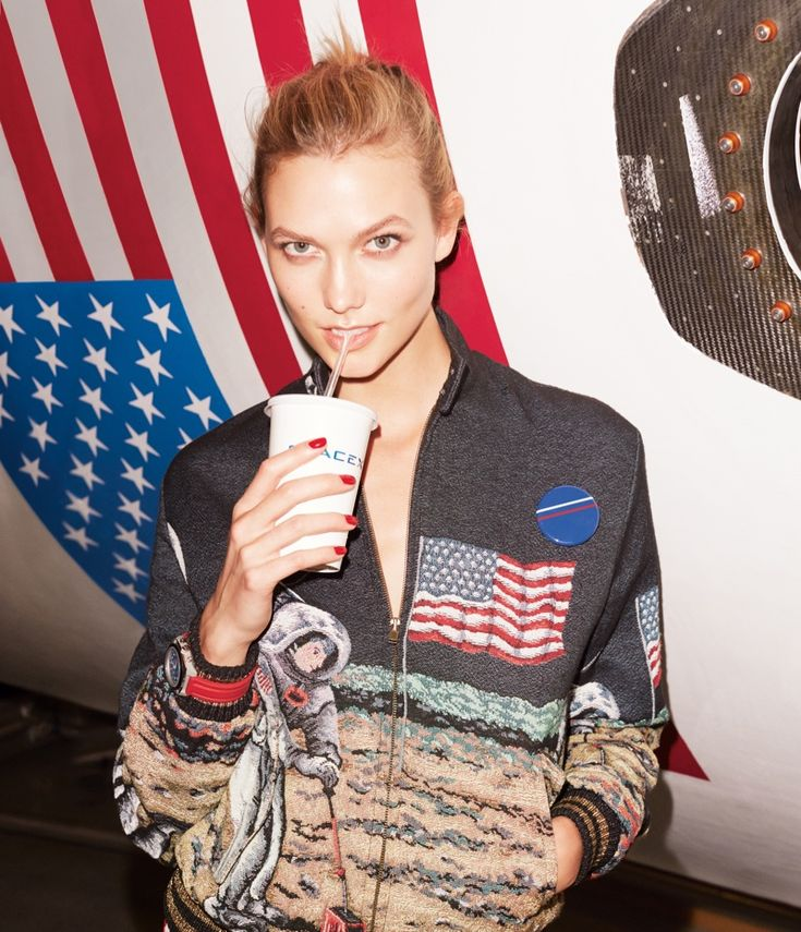 Karlie Kloss Pose in Elon Musk SpaceX headquarters for WSJ Magazine December-January 2015-2016 Photoshoot