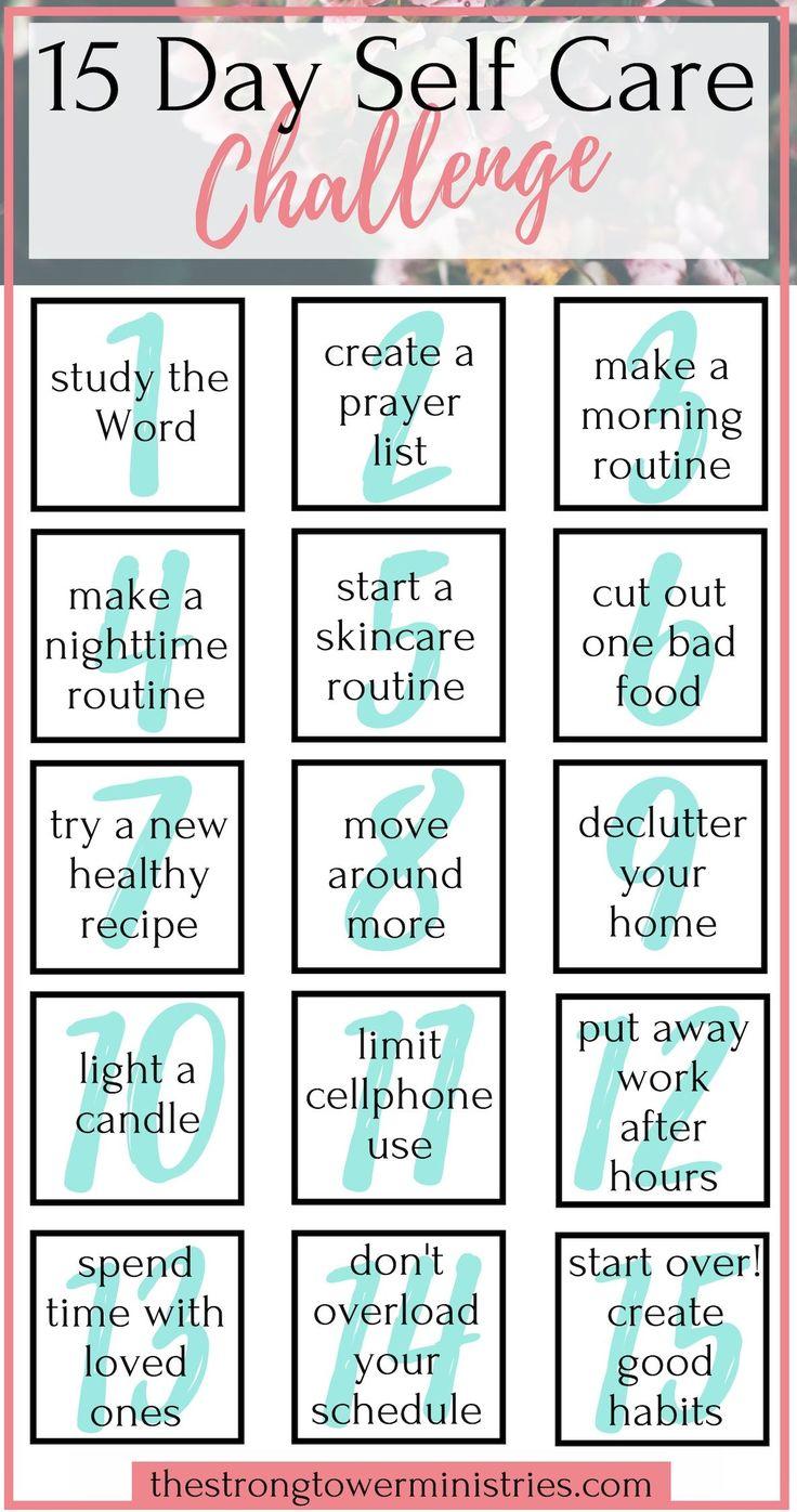 15 Tage Self Care Challenge   Gesunde Routine   Selbstliebe   Christliche Blogs für W …   – Advice for Christian Women