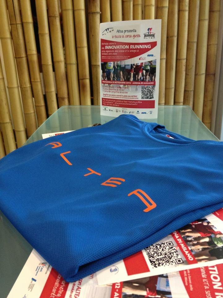 Domenica 23 settembre all'Arena Civica di Milano, per la corsa a sostegno di AVIS e del progetto B2Blood, in favore delle donazioni di sangue nelle aziende. Insieme ALTEA SpA e SAP fanno la corsa giusta!