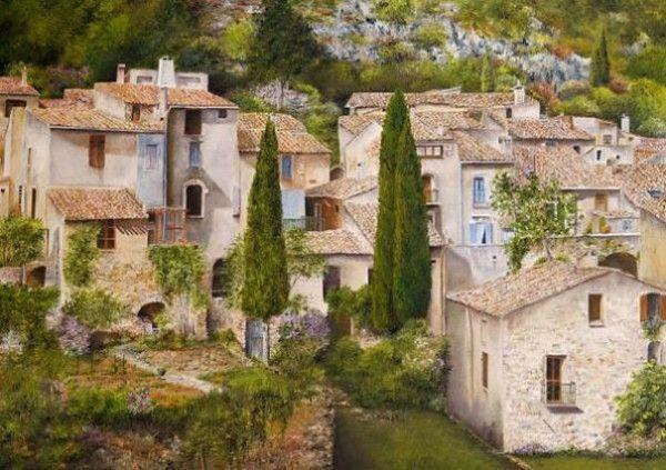 Городские улочки от французской художницы Мари-Клер Умо