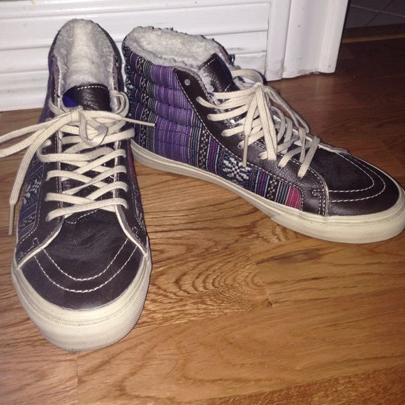 vans patterned high tops