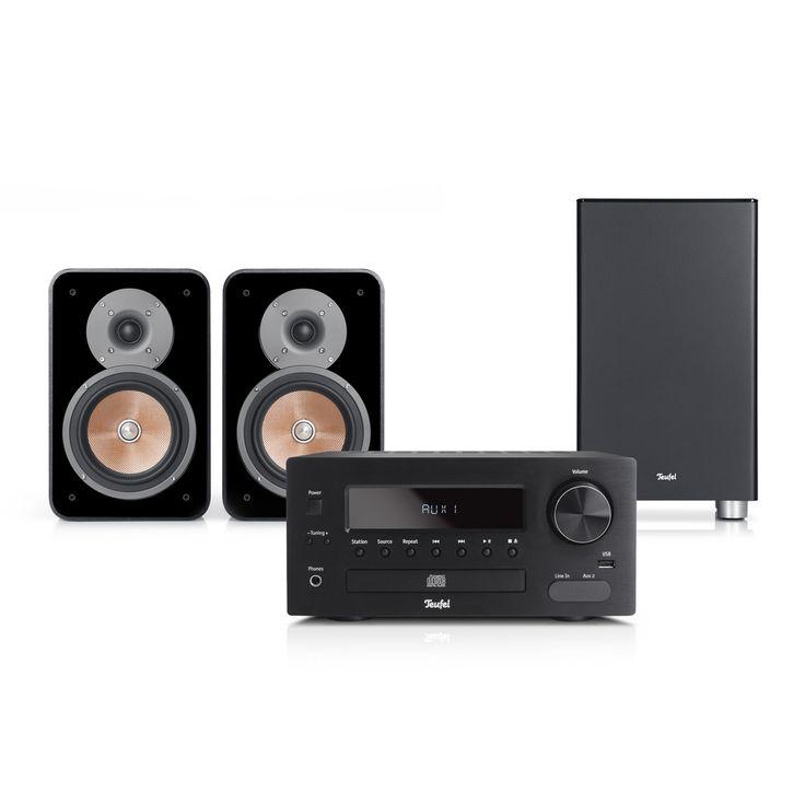 Lautsprecher Teufel Teufel Kombo 42 XBE - Mini-Stereo-Anlage in HiFi-Qualität mit starkem Subwoofer