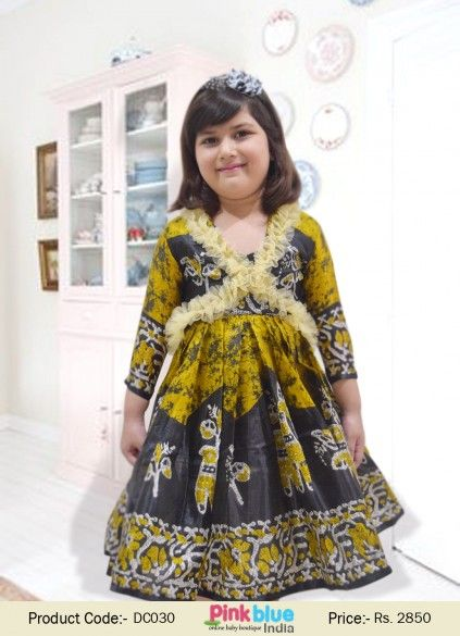 Designer Silk Wedding Dress - Princess Party Wear Dresses, Luxury Clothing for Infant Girls, Baby Traditional Clothing With Matching Jacket, Kids customized Dresses, Baby Outfits, Kids Ethnic Wear, Casual Party Dresses