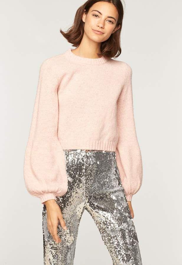 4ef9aeb2666817 Tweed Barrel Sleeve Sweater – ShopStyle