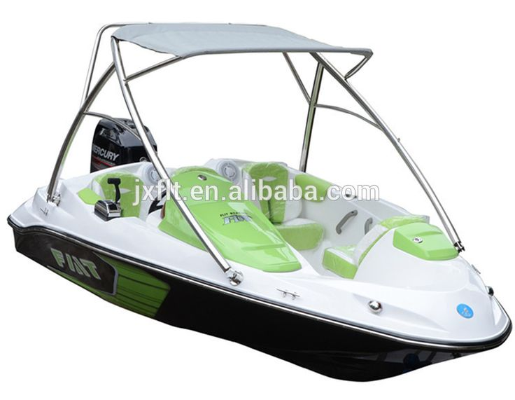 Fiberglass passenger 4 seater speed boat hulls for sale with mercury engine made in china