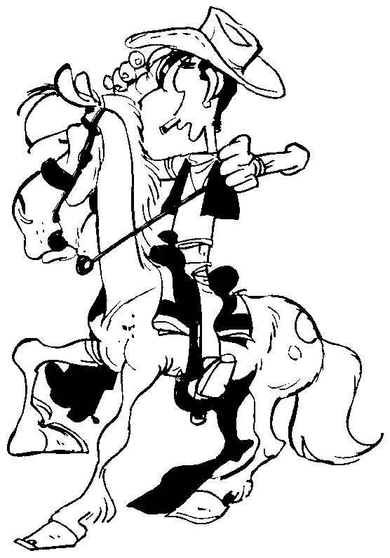Lucky Luke - 999 Coloring Pages
