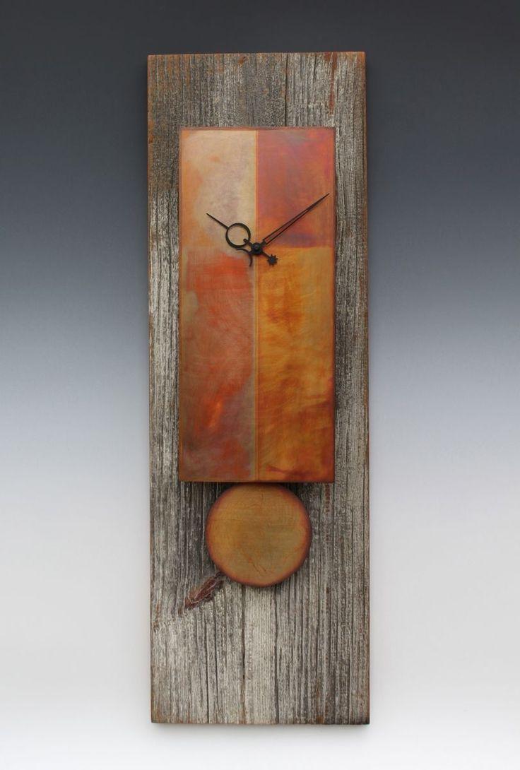 Custom Made Copper & Barn Wood Pendulum Clock