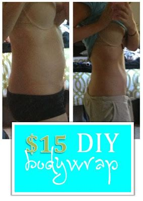 DIY at home body wrap - just 3 supplies needed!