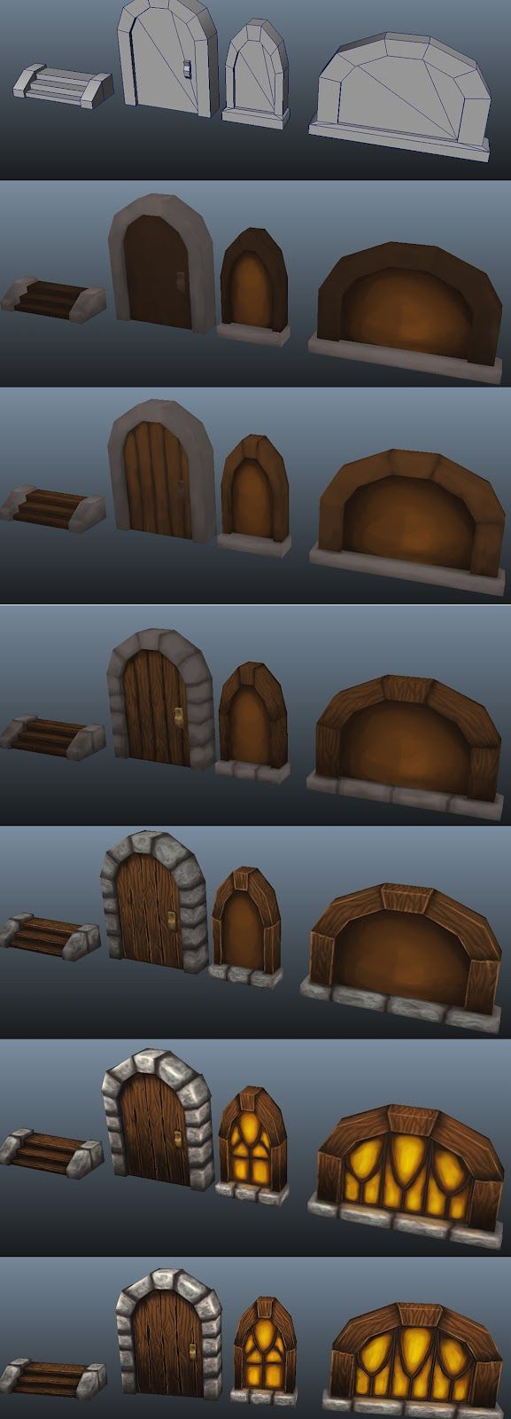 OJ ENVIRONMENT ARTIST BLOG: Blizzard Styled Texture Painting & Modular Building Exercise