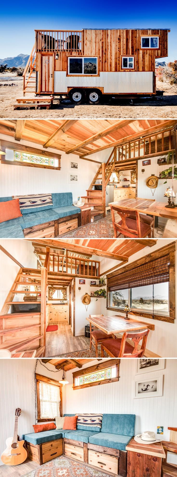 The Peacock is one of two tiny houses available for nightly rental at the Sandy Valley Ranch located an hour outside Las Vegas.