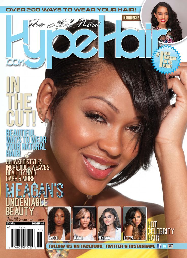 Meagan Good covers Hype Hair's November 2015 issue!