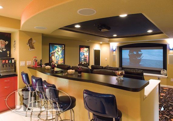 Basement home theater home theater pinterest for Basement theater room