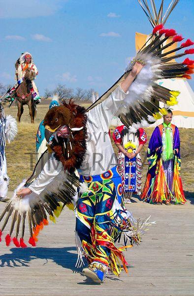 Plains First Nations dancer in Wanuskewin Heritage Park, Saskatoon, Saskatchewan - Photo by Tim Graham