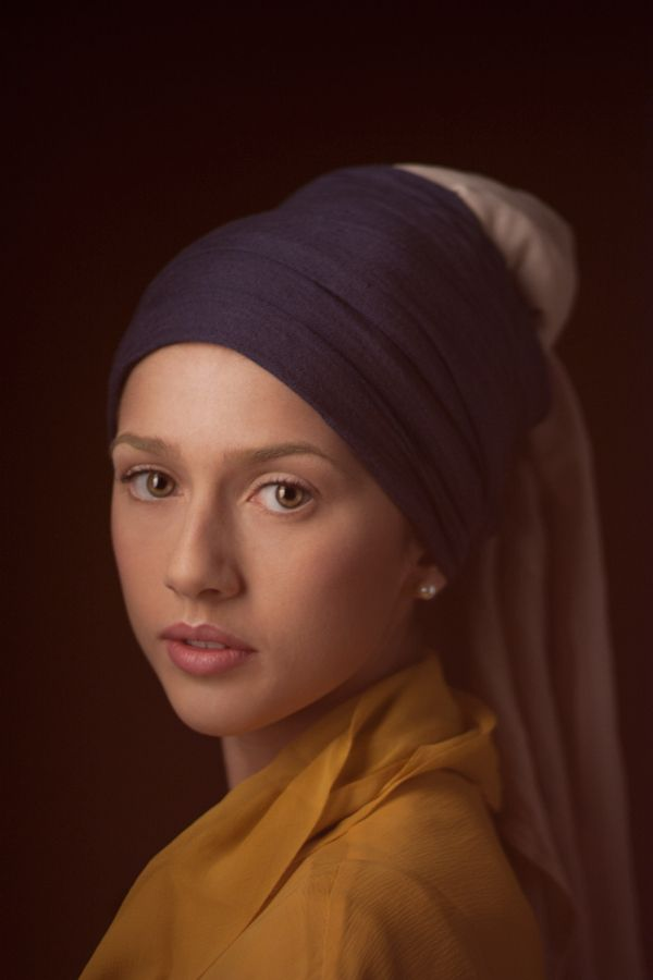 Beautiful photographic take on Johannes Vermeer's Girl With a Pearl Earring by Alice Cappo, (via Behance)